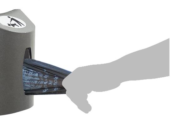 Beagle bin (bin with bag dispenser)