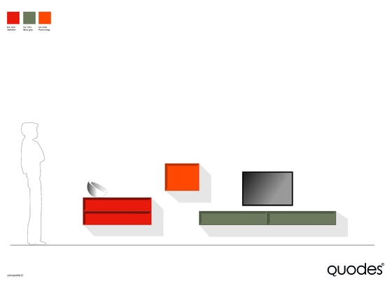 Collar cabinet composition, graphical solution for TV