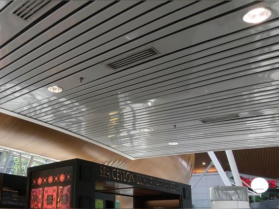 Mascot's Innova Deep optical darklight reflector downlights for shopping center