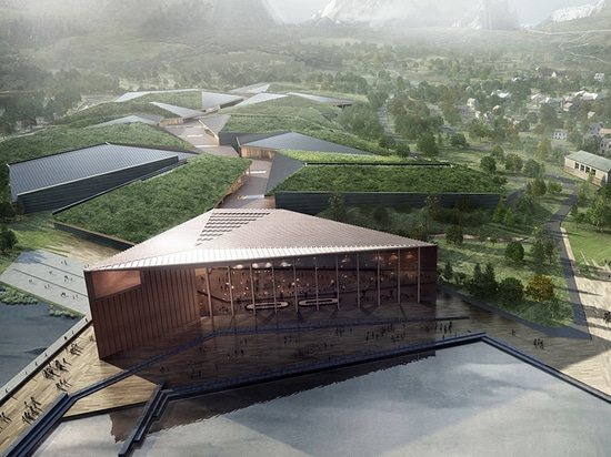 the kolos data center in norway mimics a glacier's movement