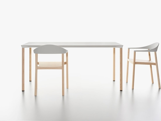 PLANK - MONZA armchair and MONZA table.