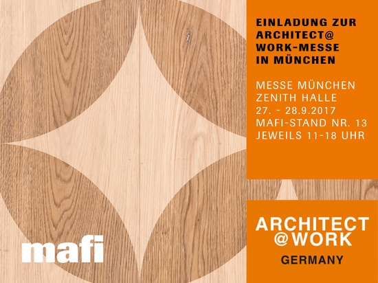 MAFI AT THE ARCHITECT@WORK FAIR IN MUNICH, FROM THE 27th - 28th OF SEPTEMBER