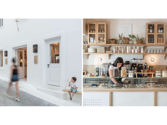 An 1860s Building Was Transformed Into A Contemporary Cafe In Greece