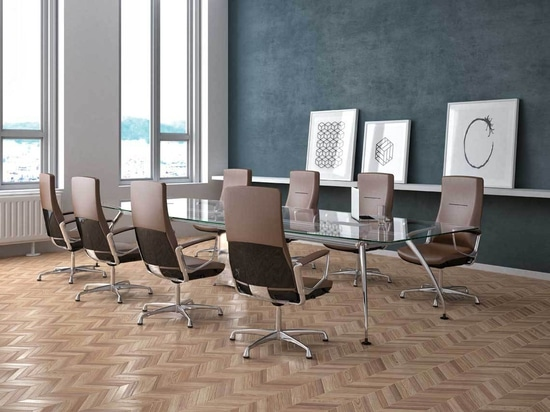 The half shell back version is a winning choice for smart boardrooms.