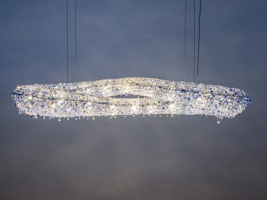 Infinity crystal chandelier