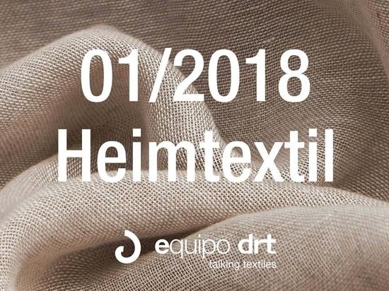 Equipo DRT will keep their date with Heimtextil 2018