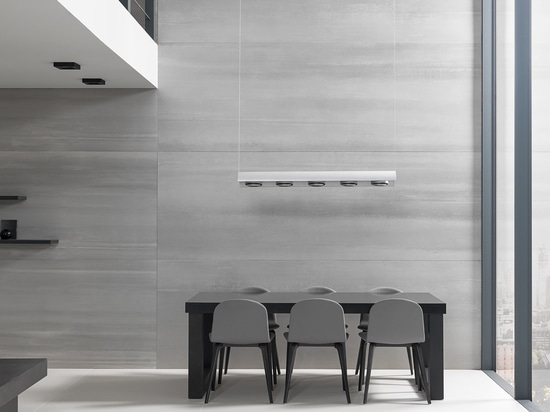 Covering interiors with XLIGHT cement porcelain tile