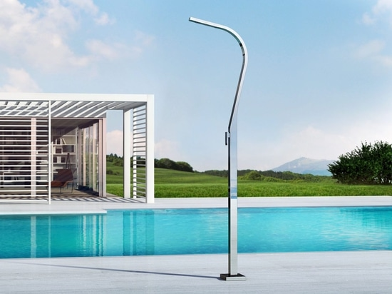 Eidothea M - Stainless steel nautical outdoor shower for swimming pool and garden