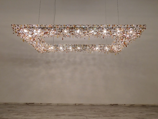 Koi crystal chandelier
