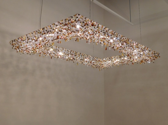 Koi crystal chandelier