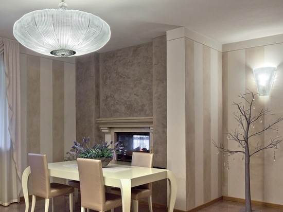 Wall lamp and contemporary chandelier