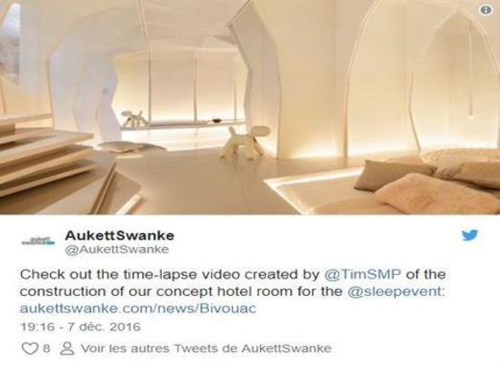 The sensation-oriented tribe #sleepset room from @AukettSwanke incorporated a bespoke washbasin from Laufen #sleep16