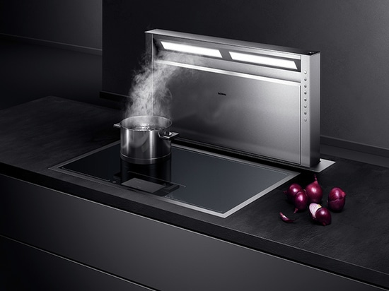 Flex induction cooktop with integrated ventilation system from Gaggenau