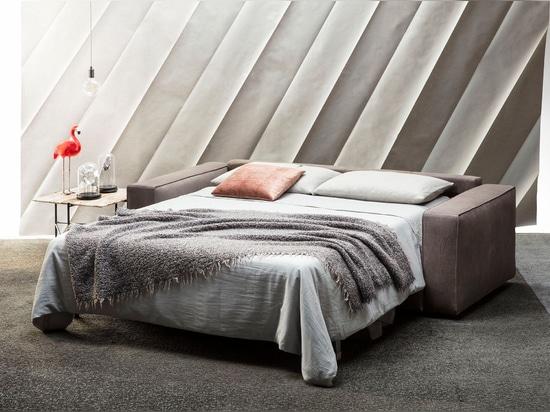 NEW: Nemo sofa bed in Nabuk leather