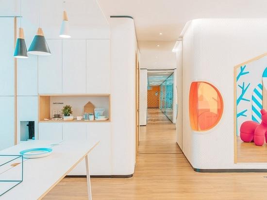 Interior Design Spotlight: Adding orange to design. Dental clinic in China by RIGI design firm