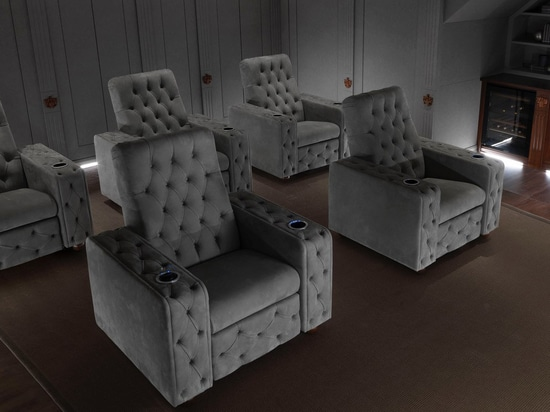 Cinema armchairs by Santambrogio in a TV room