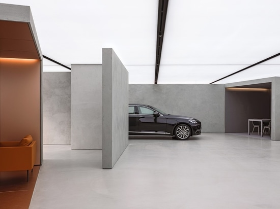 AMO / OMA designs a dealership that displays cars as works of art