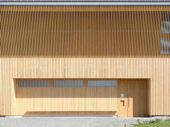 Vineyard Schmidt's striking tasting room is wrapped in a vertical wooden lattice