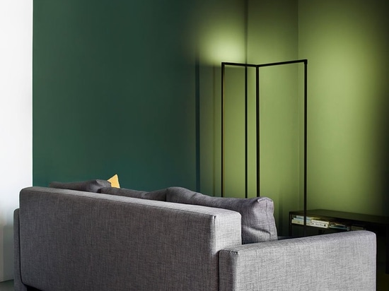 bureau cxema uses colors to create a storyline in its moscow apartment