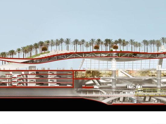 Lush green oasis will top Saudi Arabia's new dune-inspired metro station