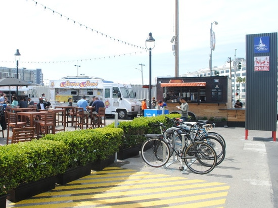 Cargotecture transforms a San Francisco parking lot into a lively village