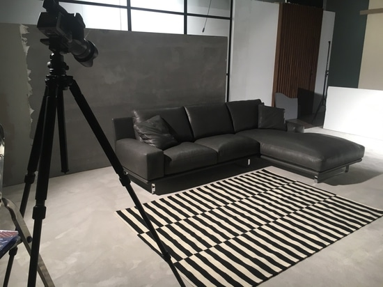 Our sofa during the photo shoot