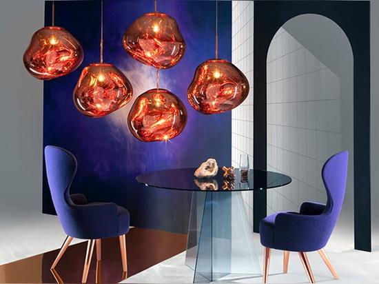 "Tom Dixon launches ""hallucinogenic"" MELT lamps at Milan Design Week"