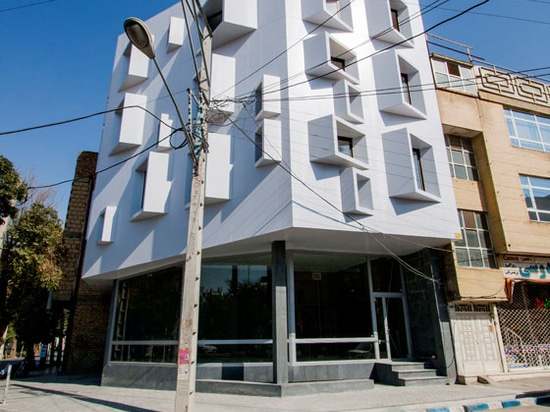 The premise of A Beveled Building, say architects Ayeneh Office, who redesigned it, was to hide unprepossessing views of a telegraph pole and ugly building opposite. Angled windows direct views awa...
