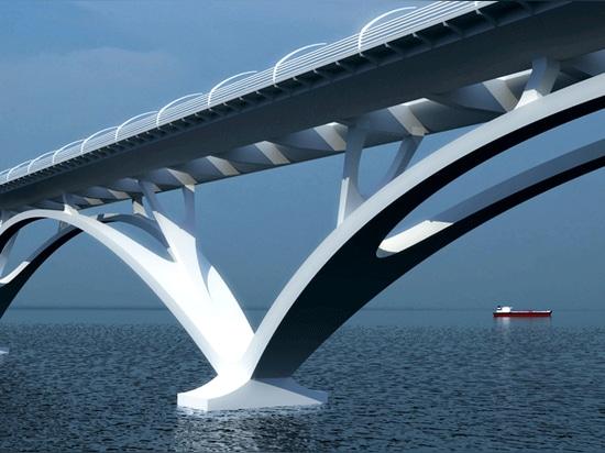 Bridge on Thermaikos gulf
