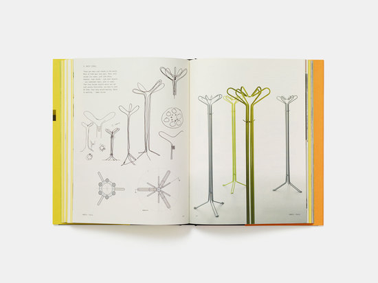 This spread shows the 'Daisy' coat stand for Danese (2004). Irvine said, 'coat stands - like most objects - are sometimes empty, with no coats. Then they become objects which are not just purely fu...