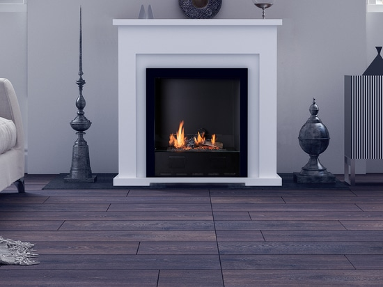 Traditional bio ethanol fireplace.