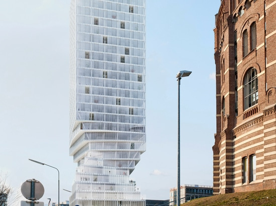 the base's twisted form is a result of the city's planning regulations