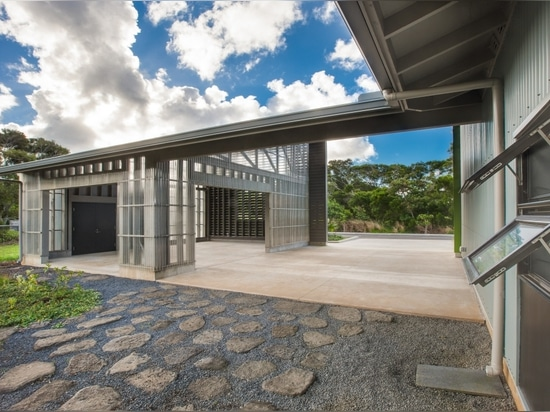 View of education pavilion and entry lanai