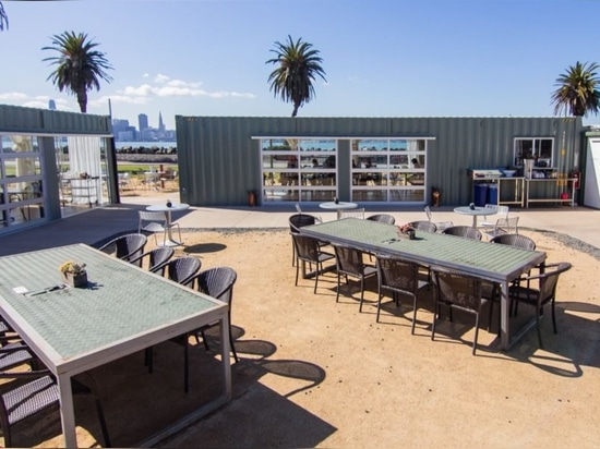 13 shipping containers are reborn as a new restaurant on Treasure Island