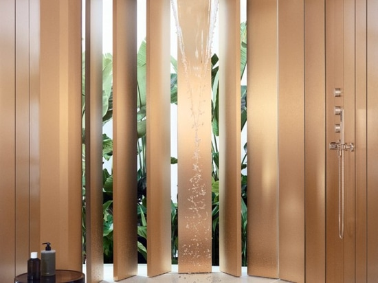 Aquamoon. The integrated shower system with heavenly waterfall effects