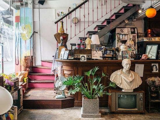 Architecture, Graphic Design & Art Converge in a Restaurant of Intuitive Eccentricity in Bangkok