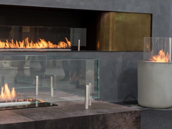 Planika bio & gas fireplaces at Decorex Show in London 2018
