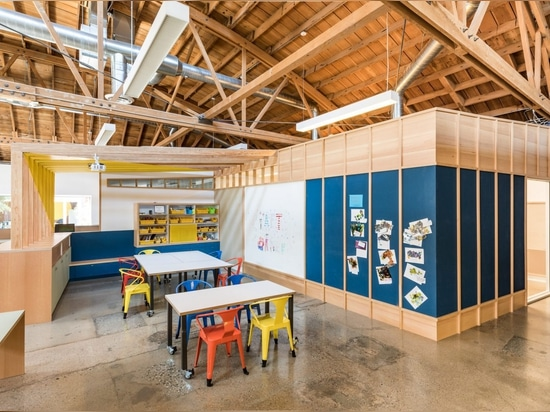 Design, Bitches overhauls LA education centre 9 Dots with plywood built-ins