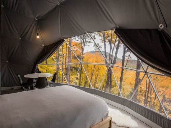 Eco-friendly geodomes provide a luxurious stay in an idyllic Quebec forest