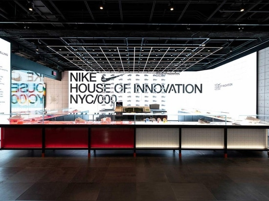 Nike unveils immersive New York flagship with carved glass facade
