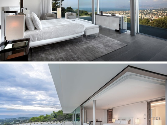 This New Home Is Nestled Into The Hillside Overlooking The City Of Cannes