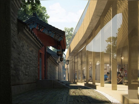 """MAD Architects to transform an ancient Chinese courtyard into a kindergarten with a """"floating roof"""""""