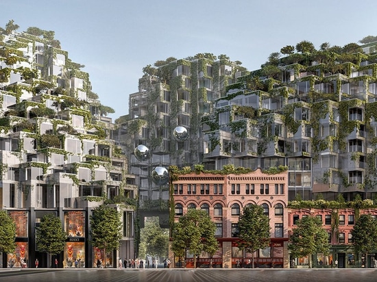bjarke ingels group reveals new imagery of KING toronto