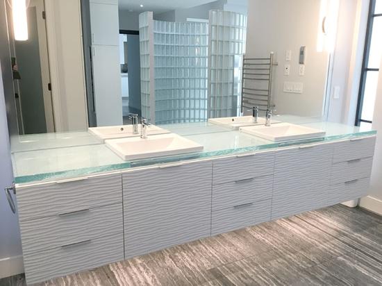 Glass Bathroom Countertop
