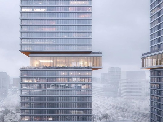 KPF reveals new mixed-use project in shanghai with cantilevered gallery spaces