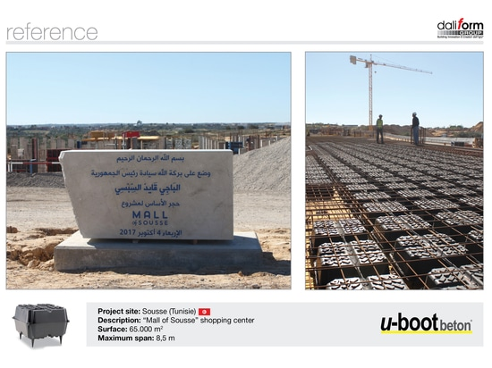 The U-Boot Beton® of Daliform Group for the Mall of Sousse – Tunisia
