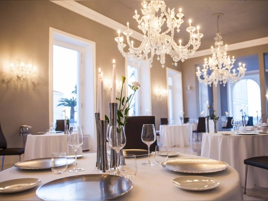 Crystal Chandeliers and Murano Chandeliers for Luxury Hotel in Sanremo