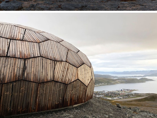 These Egg-Shaped Wood Cabins Sit On Top Of A Mountain Overlooking Hammerfest, Norway