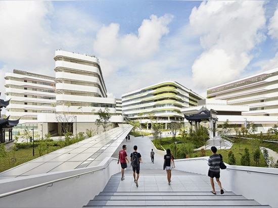 the campus uses the creative enterprise of the school to facilitate a cross-disciplinary interface