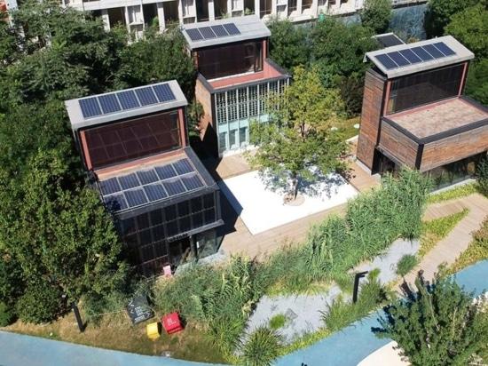 Prefab timber complex shows off net-zero energy technologies in Beijing